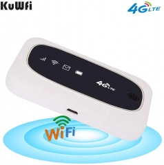 KuWFi 4G LTE Mobile WiFi Hotspot Travel Router Partner Wireless SIM Routers with SD SIM Card Slot Support LTE FDD/TDD Work for Europe Africa Asia Ocea