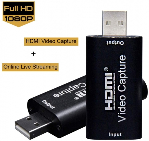 KuWFi  Portable Video Capture Card HDMI to USB 2.0 1080P Video Record via DSLR Camcorder Action Cam for Game Stream Mobile Live Broadcast
