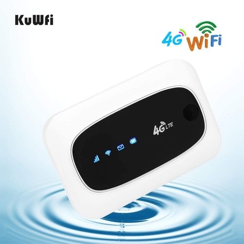 KuWFi Unlocked 4G LTE Mobile Wi-Fi Router, wireless router  travel touter Mini Mobile Hotspot Portable 150Mbps 4G WiFi Router with SIM Micro SD Card S