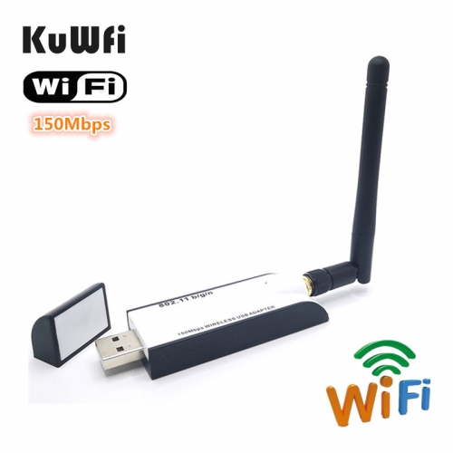 KuWFi USB 2.0 Wifi Adapter 2.4G 150Mbps Wifi Antenna RT3070 Chipset USB Ethernet Network Card Wifi Dongle Receiver