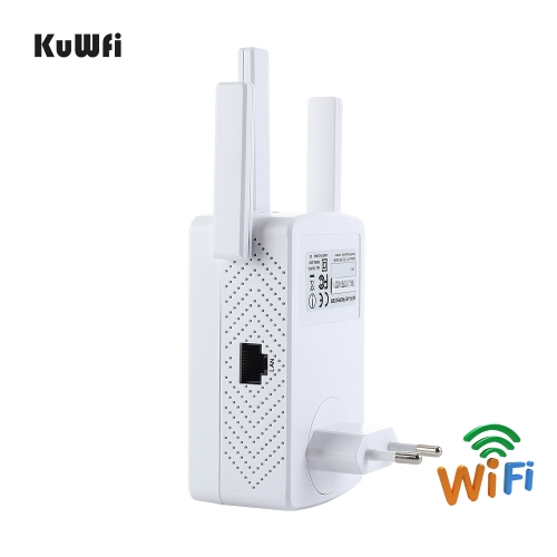 KuWFi Wifi Repeater 1200Mbps Dual Band 802.11AC Wi-Fi Amplifier Long Range Wi fi Signal Booster 2.4G Wireless Extender AP Router