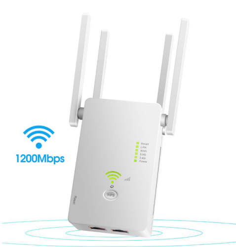 KuWFi 1200Mbps Wifi Repeater Dual Band Wireless 2.4G / 5G Wifi Extender AP Router Wifi Signal Amplifier With 4pcs Antennas