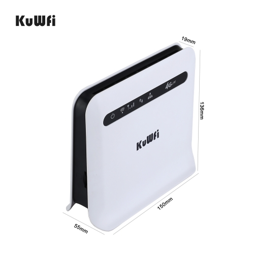 KuWFi 4G LTE Router Dual Band 750Mbps 3G/4G SIM Card Router Unlocked 4G FDD/TDD With RJ45 Lan Port Support 32 Wifi Users