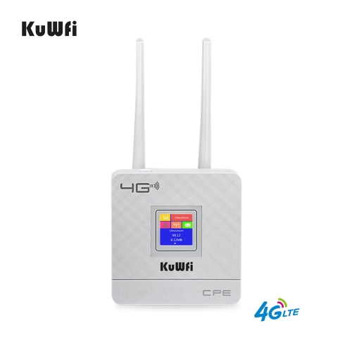 KuWfi 4G Sim Card Wifi Router CAT4 150Mbps Wireless CPE Router 4G LTE FDD/TDD Unlock Router With External Antennas WAN/LAN RJ45