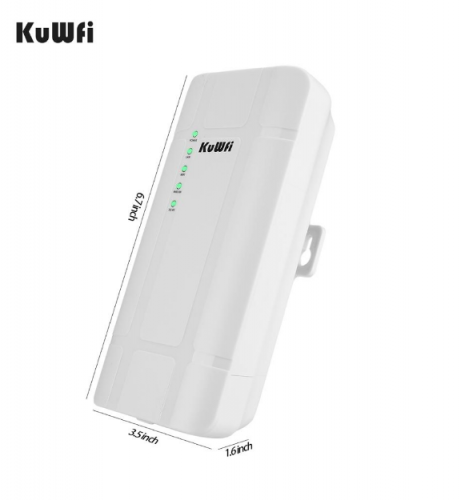 KuWFi Outdoor 4G LTE Router High Power 300Mbps Wireless CPE Router CAT4 3G/4G SIM WiFi Router for IP Camera With 24V POE Adapter